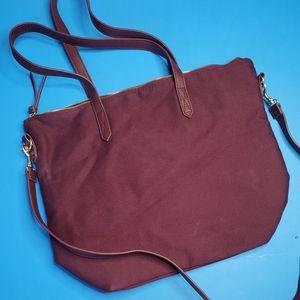 Burgendy laptop purse